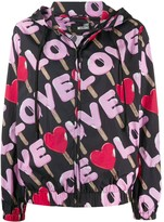 Love Moschino love print rain jacket