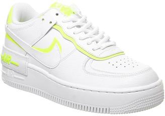Nike Force 1 Shadow Trainers White Lemon Venom