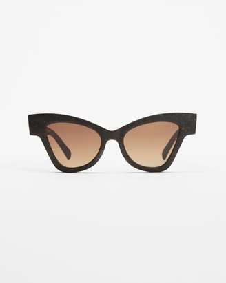 Le Specs Women's Brown Cat Eye - Sustainable Hourgrass - Size One Size at The Iconic