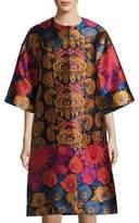 Etro Floral-Print Topper Coat