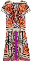 Etro Veronica Two-piece Printed Silk Dress - Orange