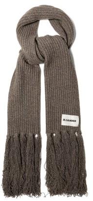 Jil Sander Oversized Cashmere-blend Scarf - Grey