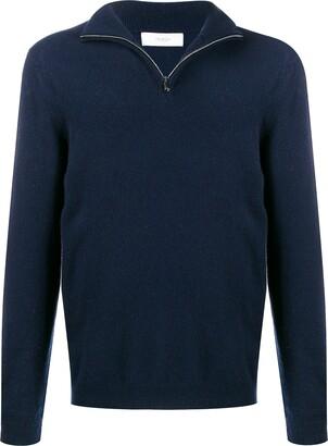 Pringle Fine Knit Zip Neck Sweater