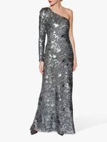Gina Bacconi Contessa Sequin One Shoulder Maxi Dress