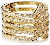 Noir Jolies Stackable Hinge Ring, Size 6