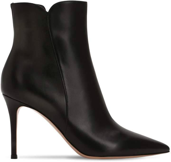 Gianvito Rossi 85mm Levy Leather Ankle Boots