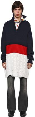 Balenciaga Oversized Wool Blend Sweater