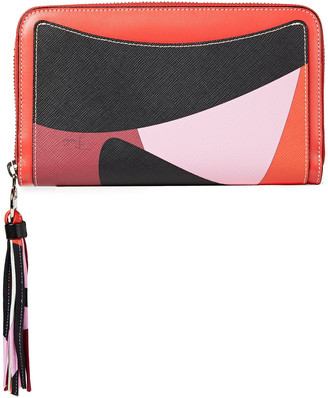 Emilio Pucci Printed Smooth And Textured-leather Wallet