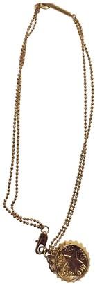 Alexander McQueen Yellow Metal Necklaces