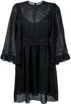 McQ by Alexander McQueen crochet detailed dress - women - Cotton/Polyester/Spandex/Elastane - 40