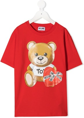MOSCHINO BAMBINO Teddy crew neck T-Shirt