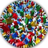 """Ikea Lego Bricks Wall Clock 10"""" Will Be Nice Gift and Room Wall Decor E29"""
