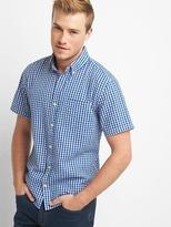 Gap Gingham seersucker short sleeve shirt