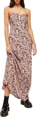 Free People Bon Voyage Floral Print Sleeveless Maxi Dress