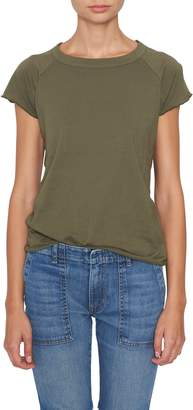 Nili Lotan Army Green Short Sleeve Baseball Tee