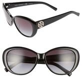 Tory Burch Women's 56Mm Cat Eye Sunglasses - Black