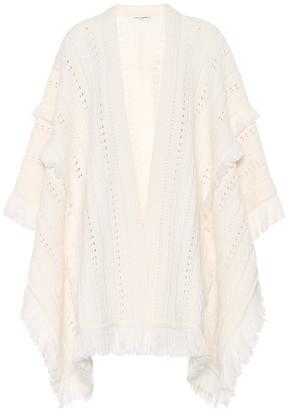 Saint Laurent Embroidered virgin wool cape