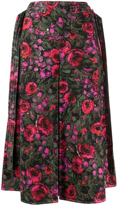 Marni Amarcord print a-lined skirt