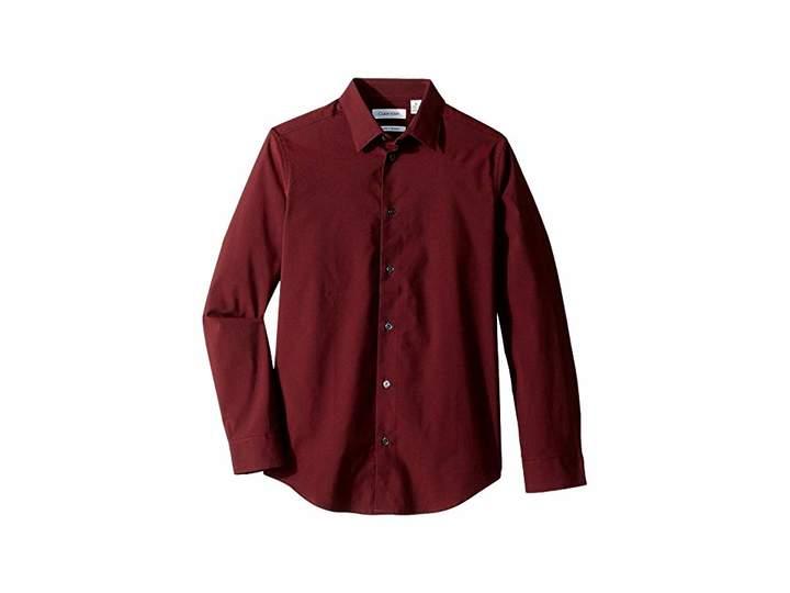 Calvin Klein Kids Iridescent Twill Long Sleeve Shirt (Big Kids)