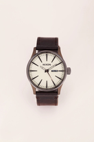 Nixon - Watches & jewellery - a105-2091-00 sentry leather - Brown / Bronze
