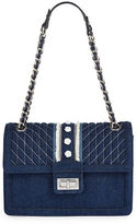 Karl Lagerfeld Paris Agyness Denim Shoulder Bag