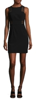 Aidan Mattox Sleeveless Illusion Stripe Dress