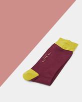 Colour Block Organic Cotton Socks