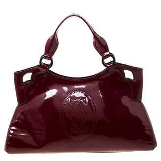 Cartier Marcello Burgundy Patent leather Handbags