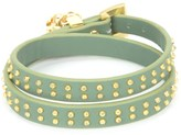 Juicy Couture Studded Leather Double Wrap Bracelet