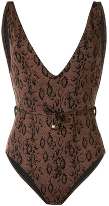 SUBOO Sophia snakeprint swimsuit