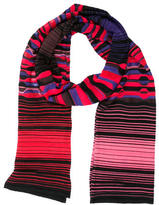M Missoni Striped Multicolored Scarf w/ Tags