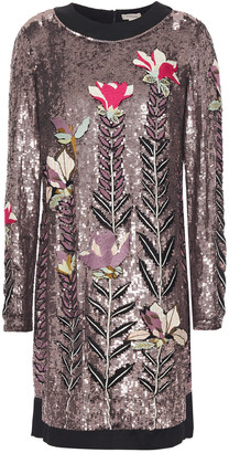 Temperley London Sequin-embellished Embroidered Tulle Mini Dress