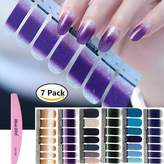 Bluezoo 1PC Nail Buffer File with 6 Different Sheets Shinny Full Nail Art Tips Stickers False Nail Design Manicure Sets