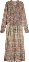 Etoile Isabel Marant Baphir Printed Silk Dress