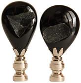 One Kings Lane Vintage Drusy Teardrop Lamp Finials