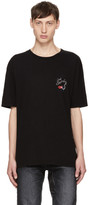 Saint Laurent Black Oversized 'Bouche' Logo T-Shirt
