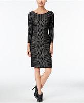 Calvin Klein Chevron Bodycon Sweater Dress
