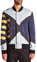 Public School Striped Bomber Jacket