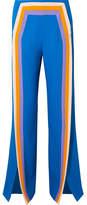Rosie Assoulin Walk The Plank Striped Crepe Wide-leg Pants - Cobalt blue