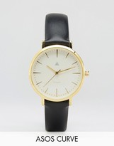 Asos Premium Black Leather Watch