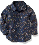 Old Navy Printed Twill Shirt for Toddler