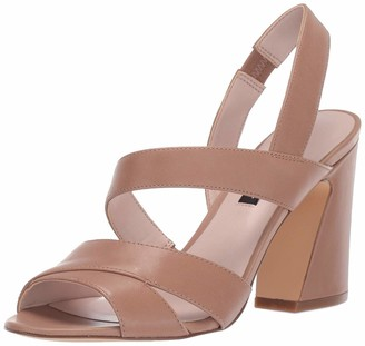Nine West Womens Nohemi Heeled Sandal Latte 10 M