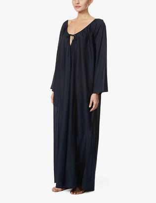 POUR LES FEMMES Roman cotton-poplin nightdress