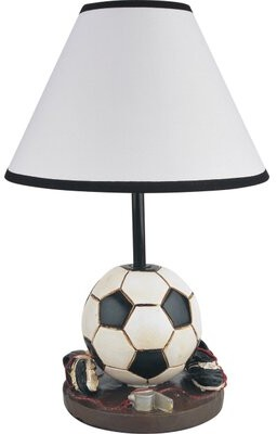 """Zoomie Kids Sports Soccer 16"""" Table Lamp"""