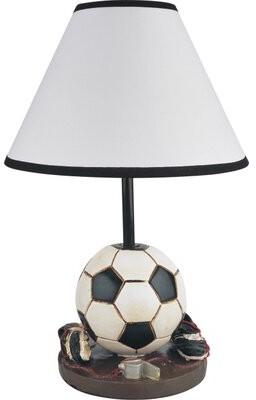 "Zoomie Kids Sports Soccer 16"" Table Lamp Zoomie Kids"