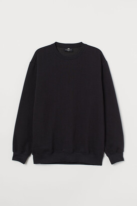H&M Relaxed Fit Sweatshirt - Black