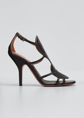 Alaia 100mm Leather Eyelet Stiletto Sandals