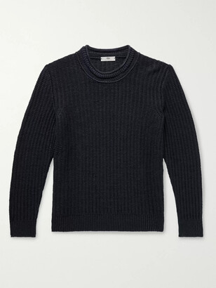 Inis Meáin Ribbed Linen and Silk-Blend Sweater - Men
