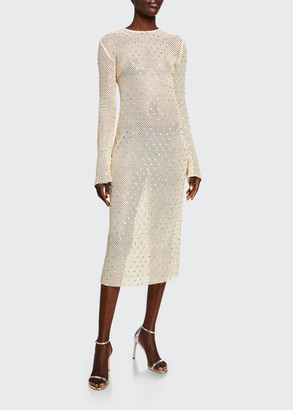 Sally LaPointe Diamond-Crocheted Bodycon Dress