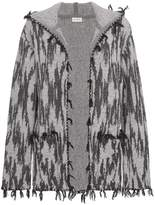 Saint Laurent Ikat hooded cardigan